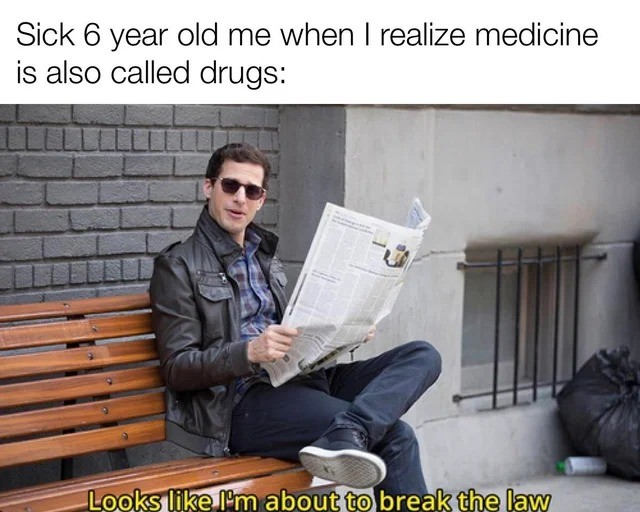 drugs. .. Crazy to think that he's in his 40's