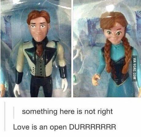 Durrrrrrrrr!. Admit it, you sang that last part in your head.. something here is nut right Love is [tti. amen