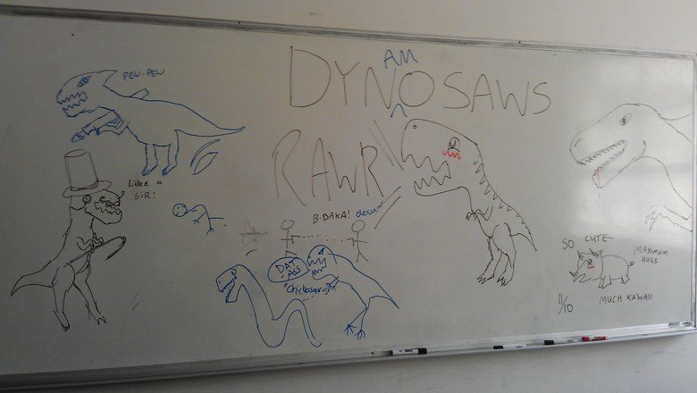 Dynamosaws. The we do at uni, me and my friends were bored, we suck at drawing, this is the result Sorry for the image being horrible, my retarded friend can't