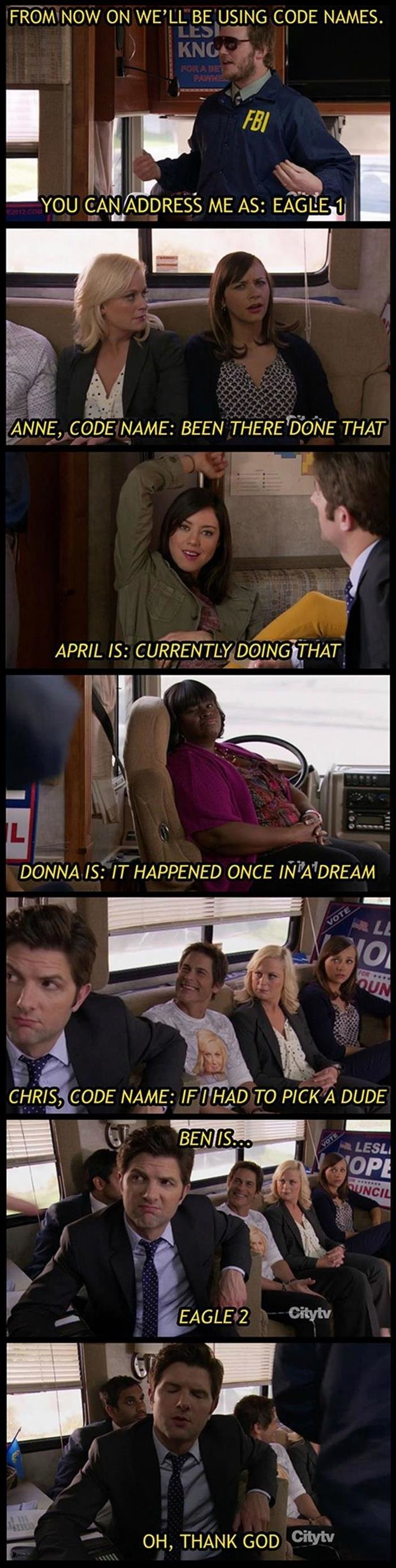 Eagle. Source: dumpaday. FROM NOW ON WE' LL BE USING CODE NAMES. ANNE, CODE NAME: BEEN THERE THAT APRIL IS: CURRENTLY ! Ngi_ THAT_ DONNA IS: IT HAPPENED ONCE ii