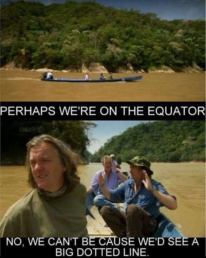 Ecuador. Source: dumpaday. NO, WE CAN' T BECEUSE WE' D BIG DOTTED LINE.