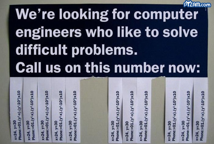 engineers, needed.. I wonder if someone could translate this and post it as a comment, lol.. l We' re looking for computer engineers who like to solve difficult