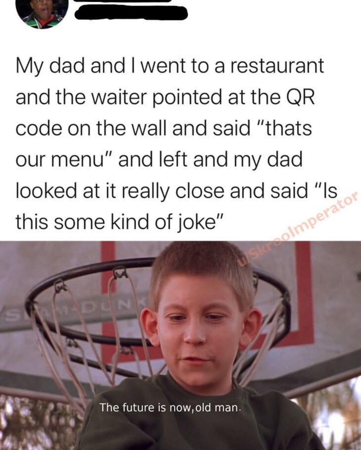 enlivened axiomatic silky Kookabura. .. Qr code is retarded. Give me a menu you millenial faggot