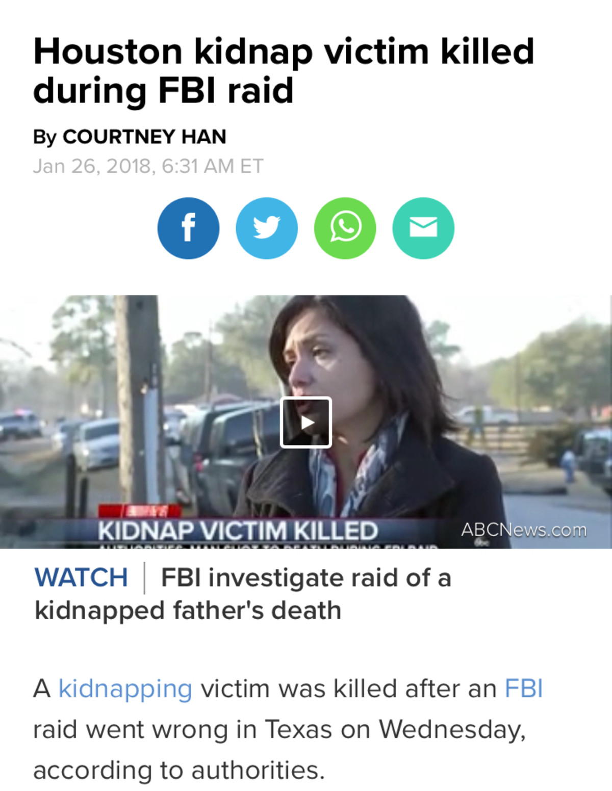 Etevepond Verreduc Divolato. In all seriousness, my condolences to his family.. Houston kidnap victim killed during FBI raid By COURTNEY HAN Jan 26, 2018. 6: ET