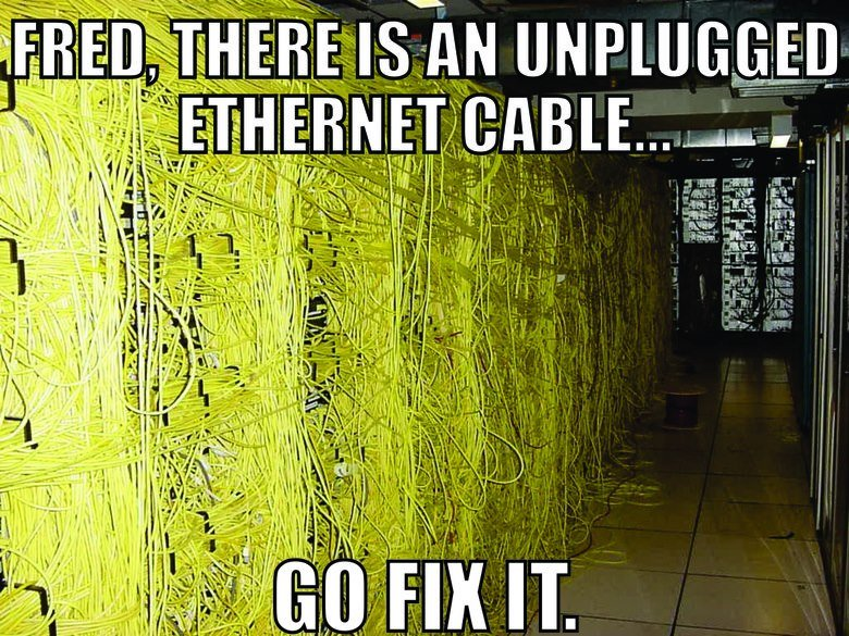Ethernet. .. thats a little funny, why thumb it down?