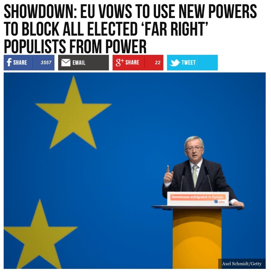 """EU. For context and the lazy. Remember that now any Conservative party is considered """"far-right"""" because of the regressives... Democracy can and will"""