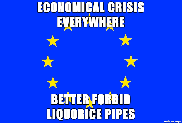 "EU logic. horse. enless it it tinitus"" PIPES. i didn't know that was an issue"