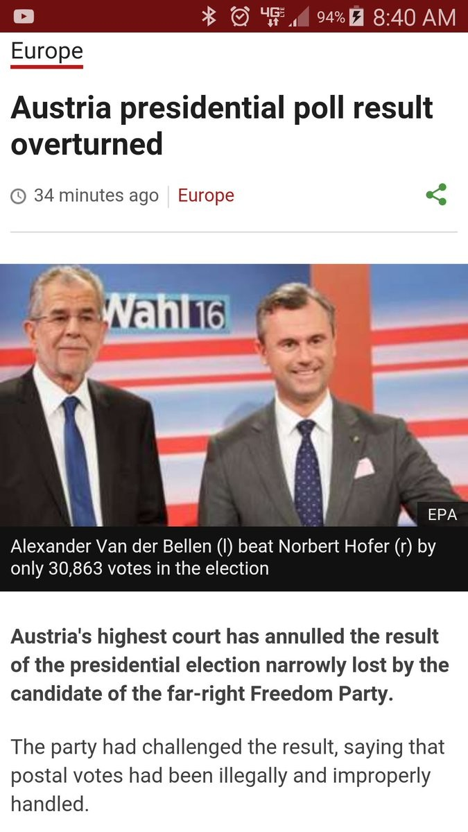 EU Tried To Decide Australia's PM. It didn't work join list: PoliticsAndStuff (741 subs)Mention History. Europe Austria presidential poll result overturned C) 3