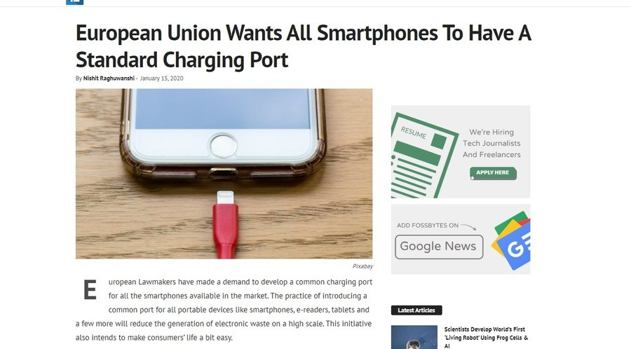 EU wants every phone to have a standard charging port. .. USB-C fix your , Apple