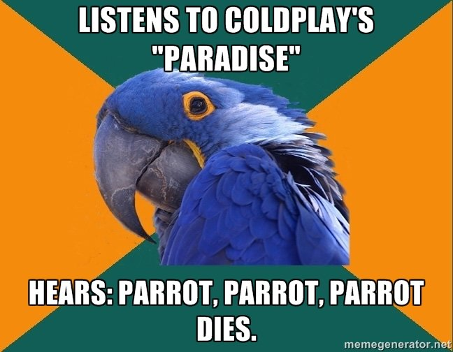 euheuheuh. . Isms ' s HEARS: PARRIED. PARROT. PARROT DIES. memegenerator. n%
