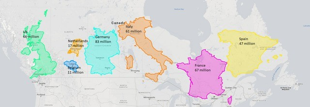 Euro Size Chart. .. Canada is THICC