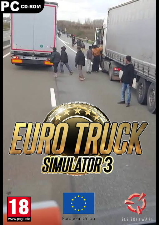 Euro truck simulator 3 teaser. Spent way too much time on this while I should have been preparing for my driving exam..