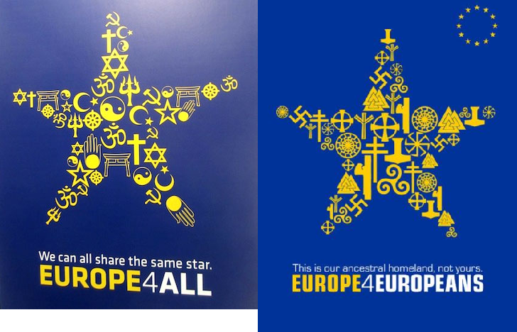 Europe for all. . cur ancestral . rut .. Europe to the Europeans. muslims.