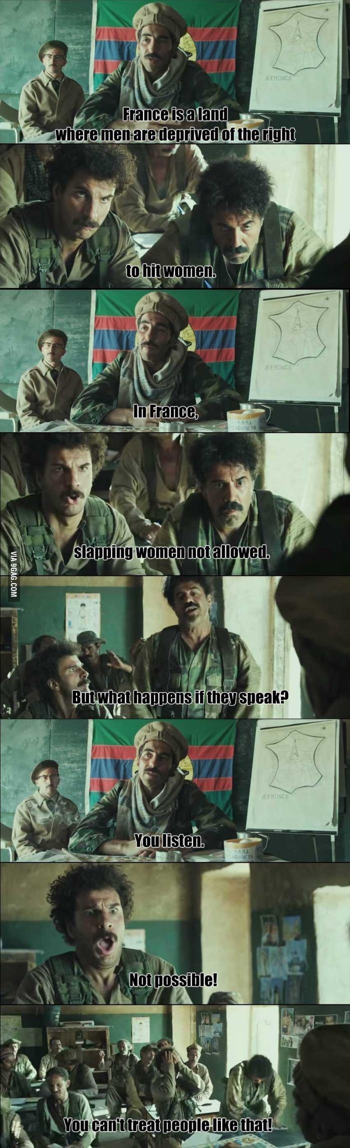 Europe teach refuges. .. Name of the movie is Vive La France