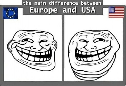 Europe vs. USA. . the main difference between. < the differences between UK and USA