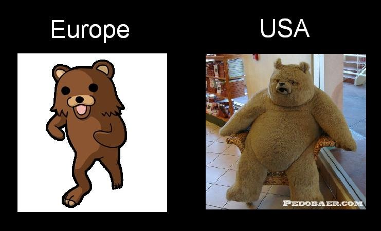 Europe vs USA. .. atleast america looks creepier