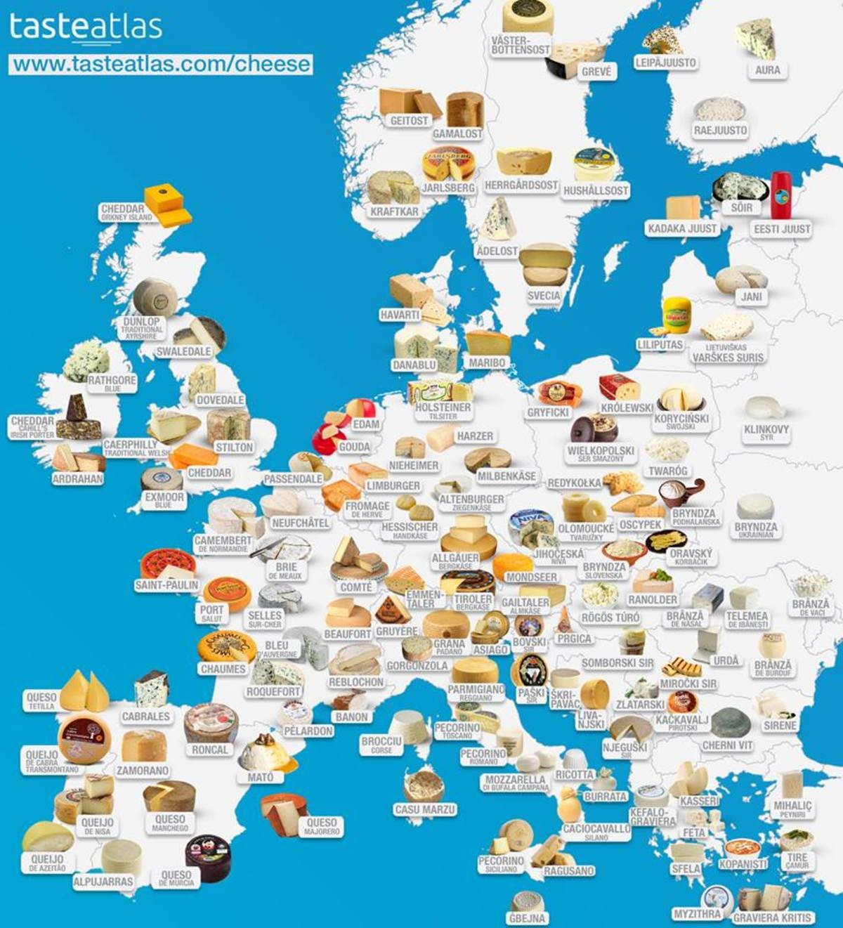 European Cheese Map!. .. crucial cheeses have been missed