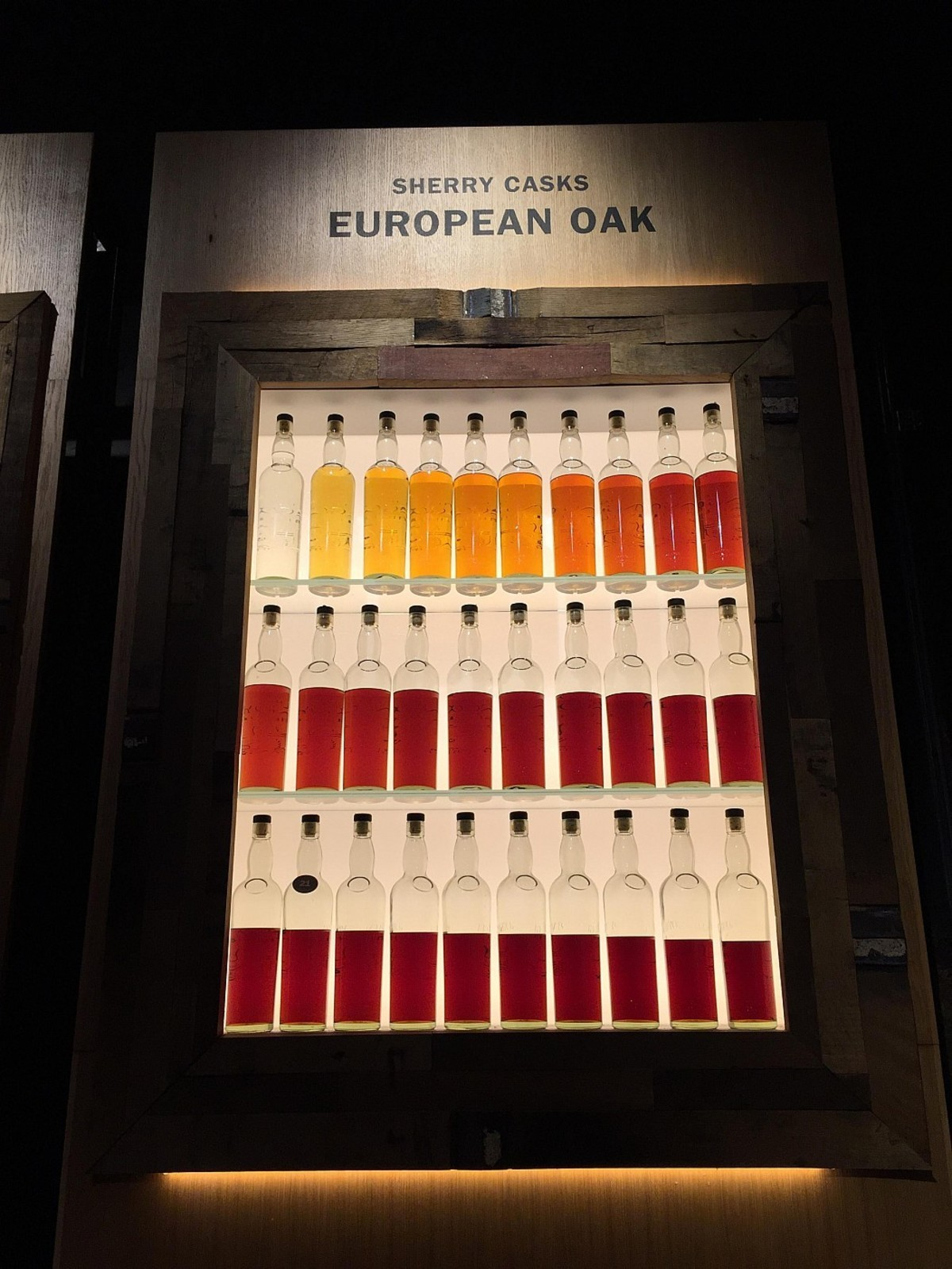european oak. .. this reminds me of when you have blood in your pee. its starts ok then gets worse.
