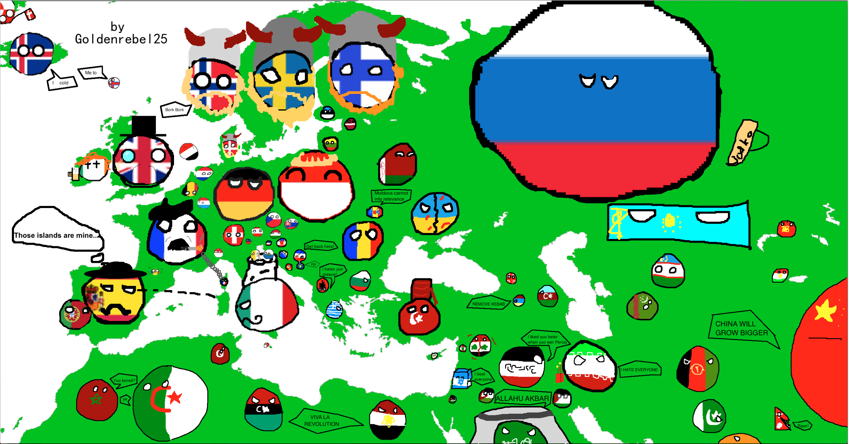 Europeans be like. So, another polandball thingy. Enjoy! Check out my youtube channel: .. But in reality it's like
