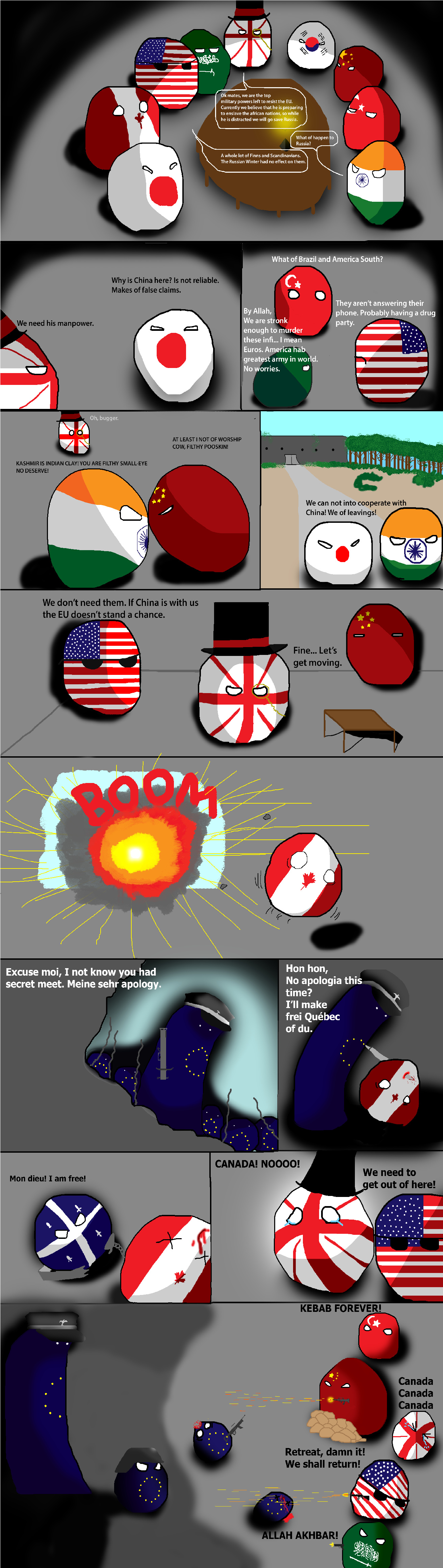 Euroreich Part 3. Sorry for being so late with the comic... Part 1: Part 2: You'll have to zoom in for the text at the start and I am sorry for that. I'll make it better next time.