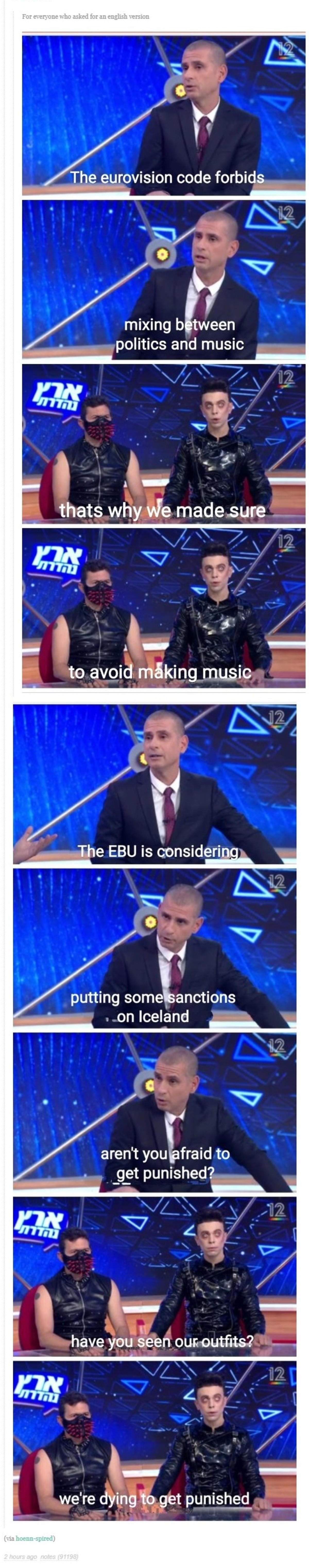 """Eurovision Code. .. I dont get how people can watch trash like eurovision, there is NOTHING compelling about it in any way other than """"hey, everyone else is watching it so i h"""