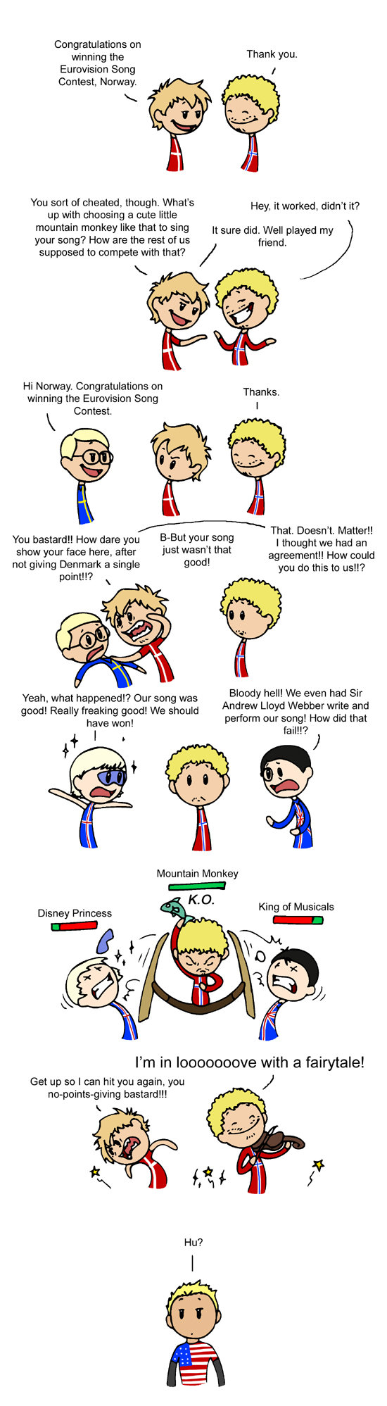 Eurovision. Guess what. Since people are being lil bitches... <br /> All the cute lil chartoons of countries are by humon. <br /> Hes on some websit
