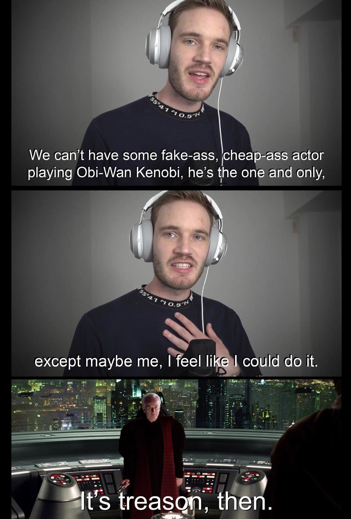 Evan McGregor. . except maybe me, Nu Ii could do it.. So yeah, Ewan McGregor is Obi-Wan, but to be honest I wouldn't really mind watching pewdiepie in an actual movie. I'd be very interested in how he performs unde