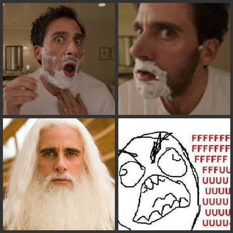 Evan Almighty fffuuu. Shaving Problems ?.. red text please? ROLL 9