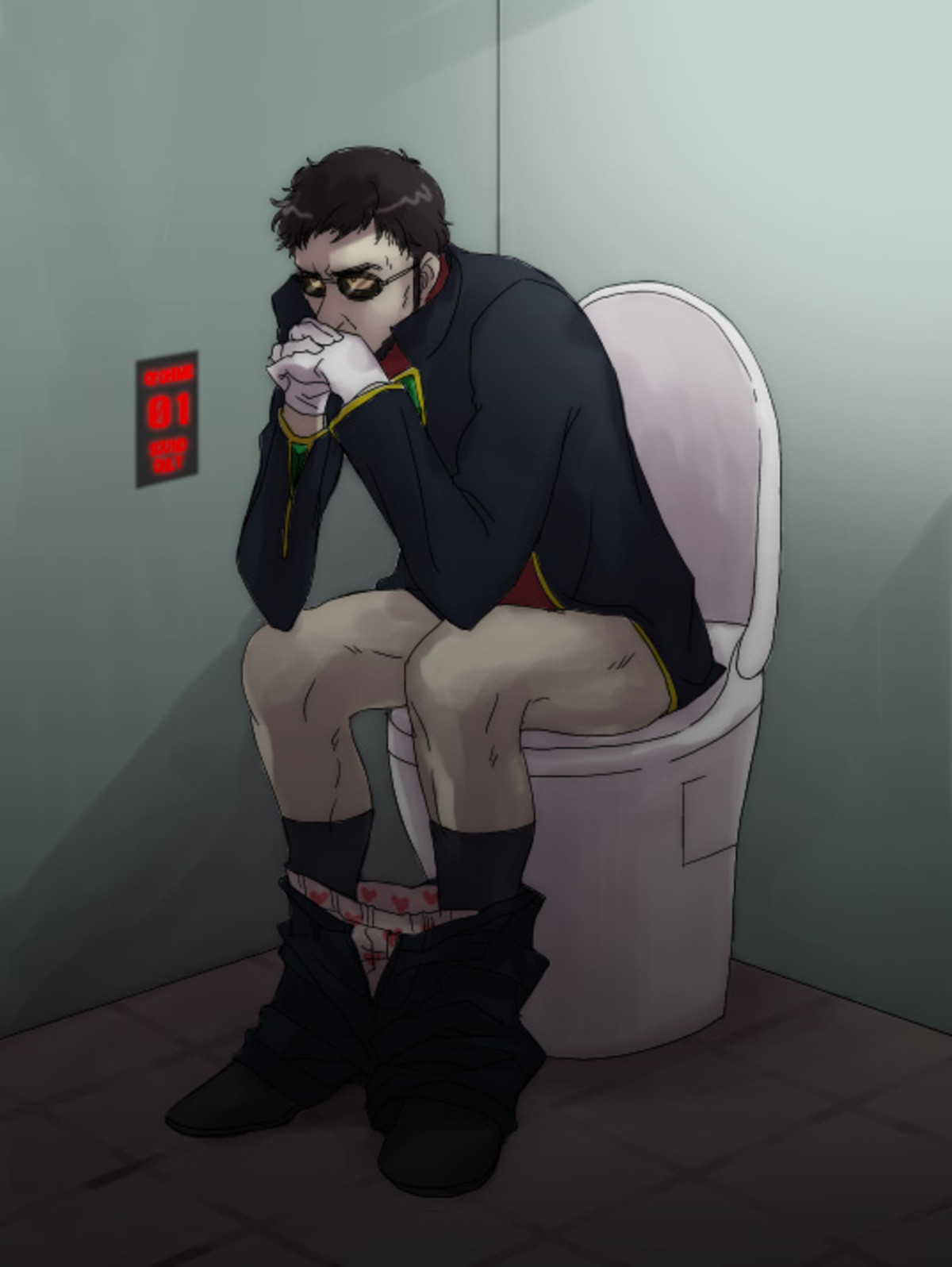 "Evangelion was so deep. .. ""Get in the toilet"""