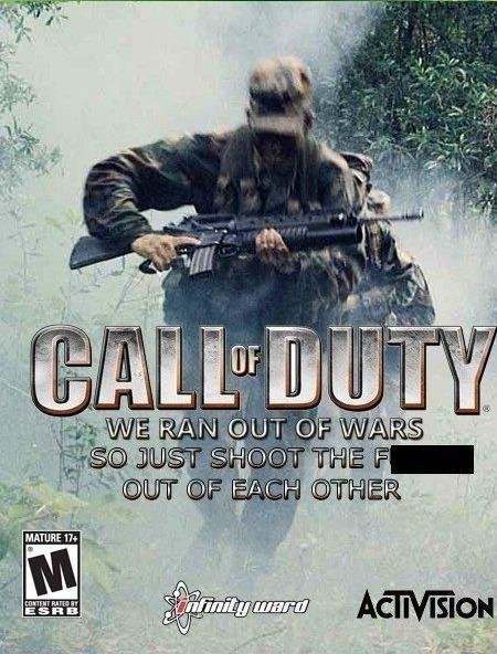 Everyone Awaits The New Call Of Duty.... and with a catchy name like that, who wouldn't be waiting?.. Gee, thanks for shielding my eyes from the no no word