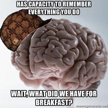"F U Brain!. . ii' run. ""Or did i eat breakfast?"""