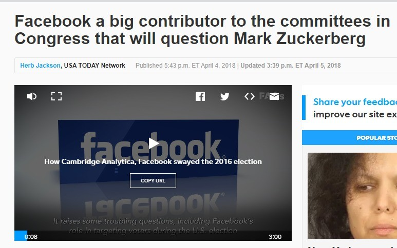 Facebook owns the commitee. Facebook Donated to 46 of 55 Members on Committee that Will Question Zuckerberg. Facebook a big contributor to the committees in Con