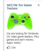 Facebook Ad. These things never seem to get anywhere near intelligent..
