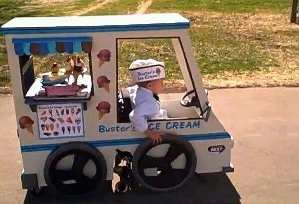Faith in Humanity: Restored. this little guy's parents helped him build his Halloween costume around his wheelchair .. >faith in humanity I will set you on fire.
