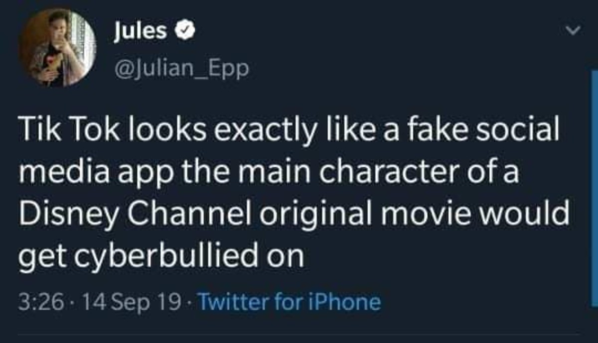 Fake app. .. Its kinda sad because at first the people who used the app used the features in a creative way and made cool/ funny with it but then it just became a popularity