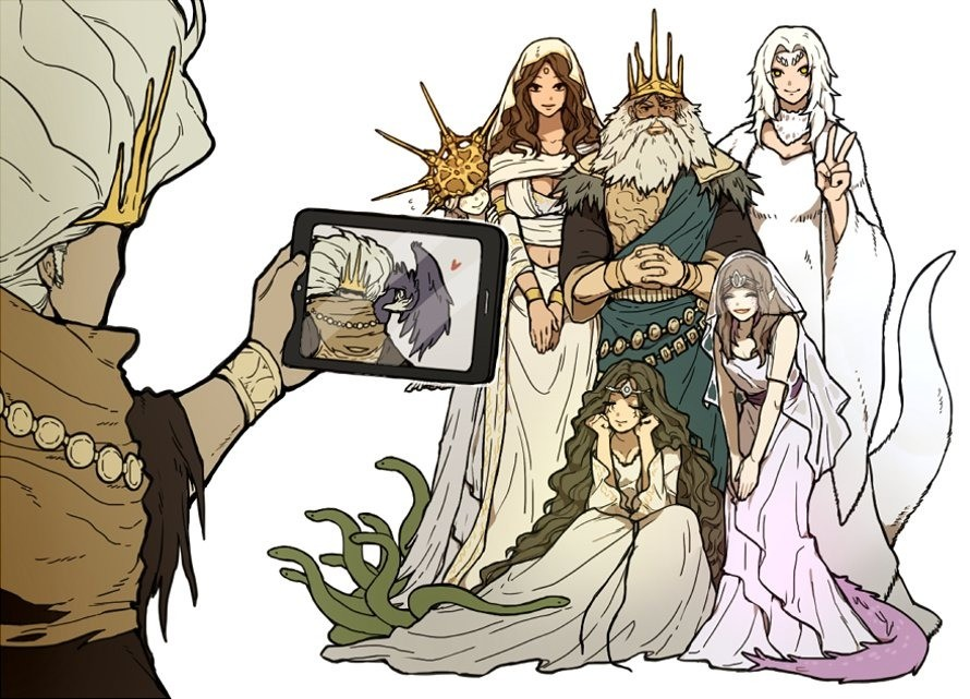 Familiy Picture. Source: .. Originally Priscilla was going to be an important NPC for the Chosen Undead like the Fire Keeper in DS3 is to the Ashen One What could've been :c