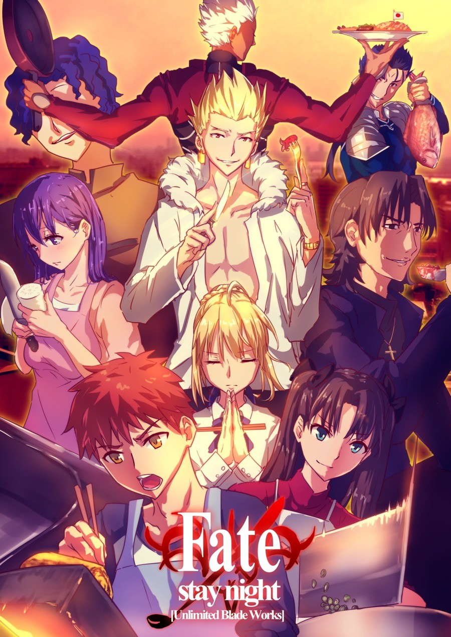 Fate/Stay ht: Unlimited Food Works. .. I was confused as to why they didn't have Gilgamesh on the cooking show