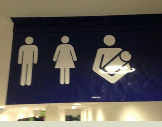 Finally a bathroom for me!. .. does anyone know what in the fuk they were trying to do there? i fairly certain they fuked it up
