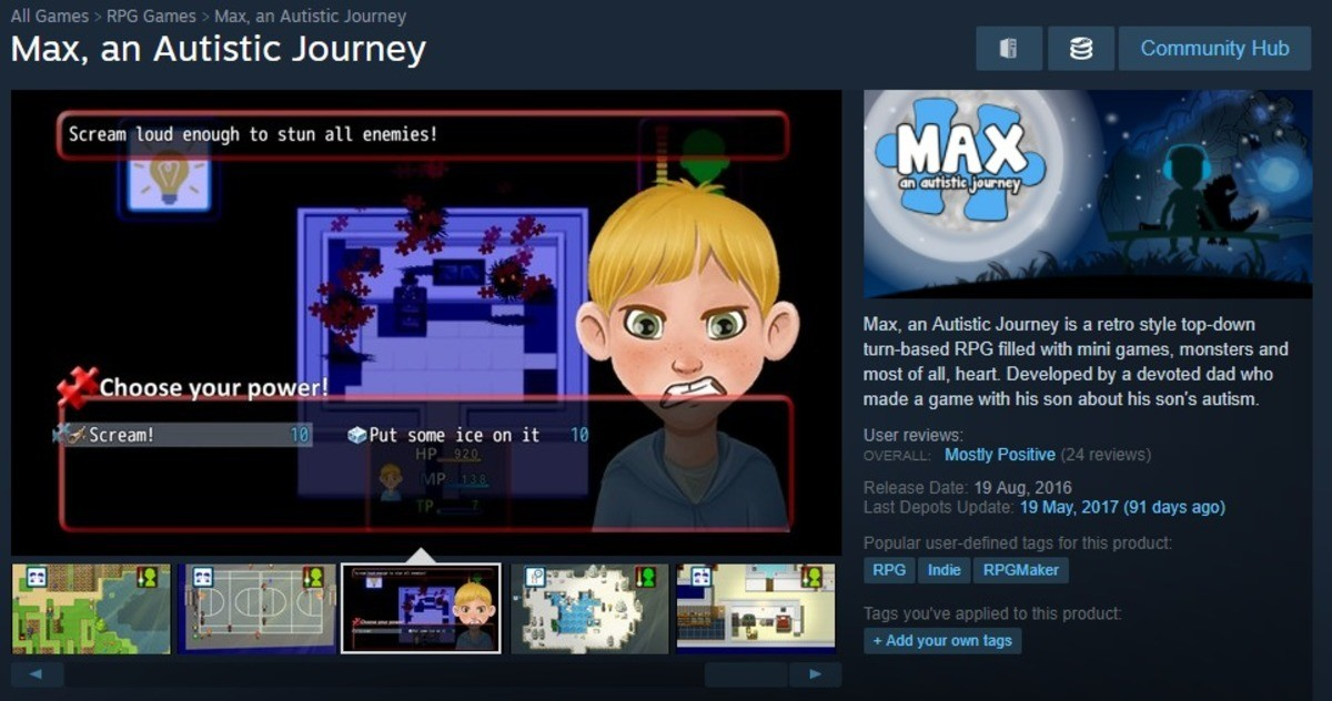 finally a game tailored to my tastes. anAutistic_Journey/ . Max, an Autistic Journey E tit Communitygay Stream loud enough to stun all enemies! dill' Max, an Au
