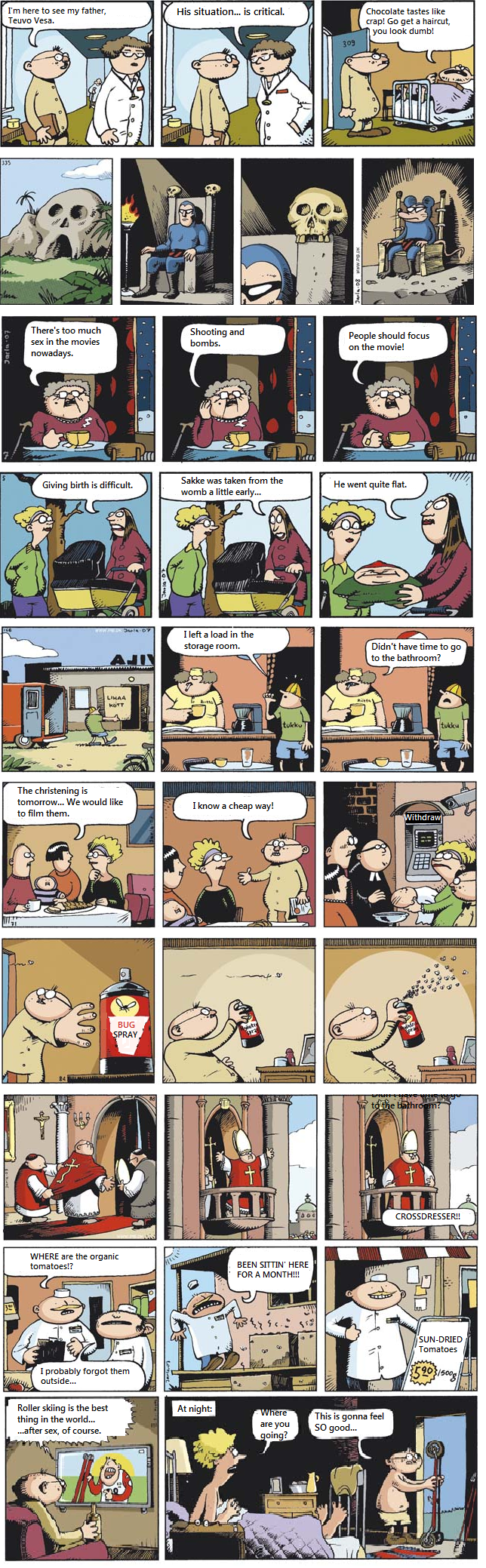 Fingerpori comp 2. Since my last Fingerpori comp was kinda liked, I decided to translate a pile of these myself. Look at my first post for info about this crap: