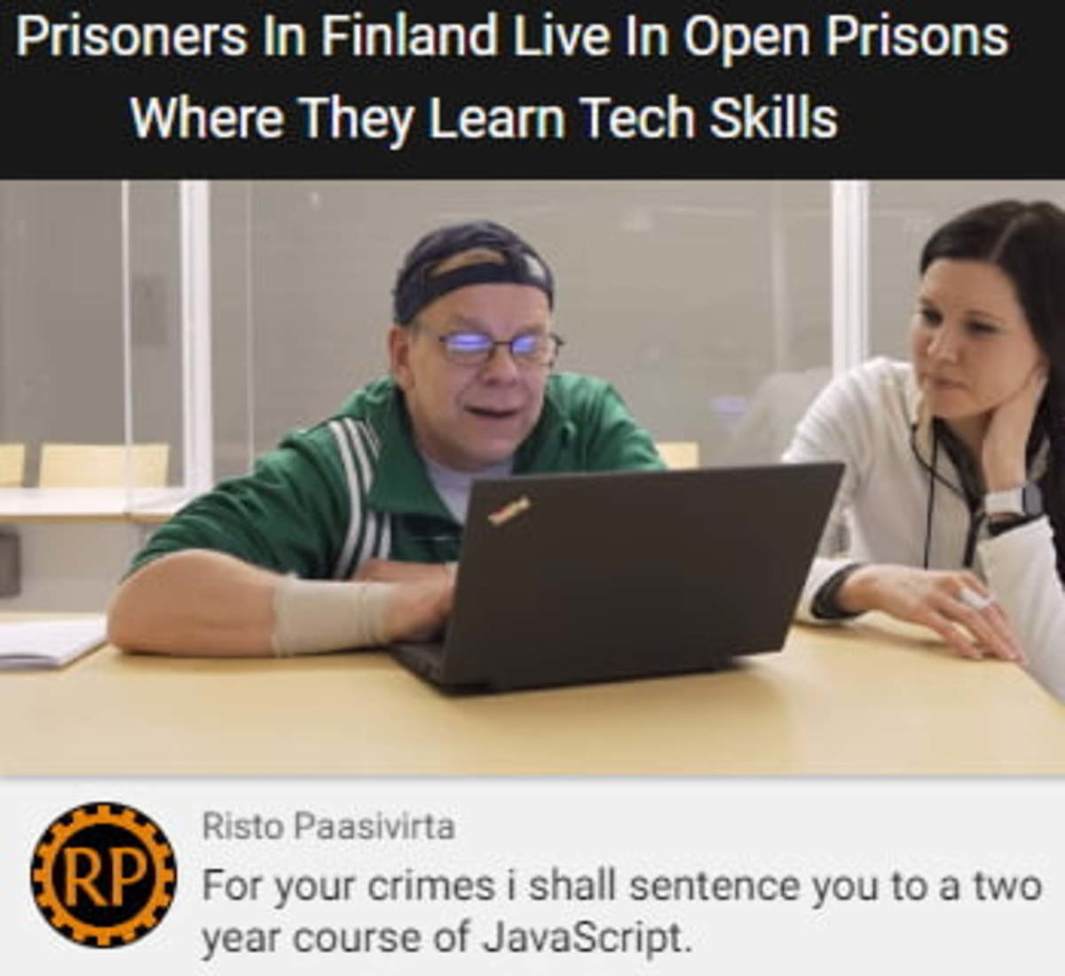 Finland Prisons. .. Eat at high end restaurant without paying as homeless man for free education Big brain plays