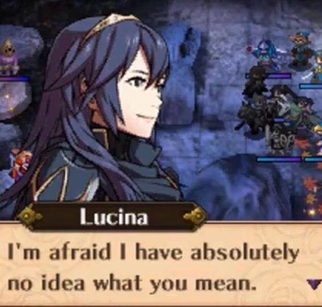 """Fire Emblem Quotes. Next one is fake but just though I'd share. One day.. I' m '., I have absolutely no idea what you mean.. """"My name is Chrom"""" """"Chrom? Is that foreign"""" First time fire emblem memes made me laugh hard also the blue hair just made my side's go nuclea"""