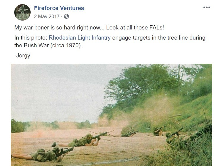 """Fireforce Ventures is pretty cool. .. """"My war boner is so hard right now"""" cringe"""