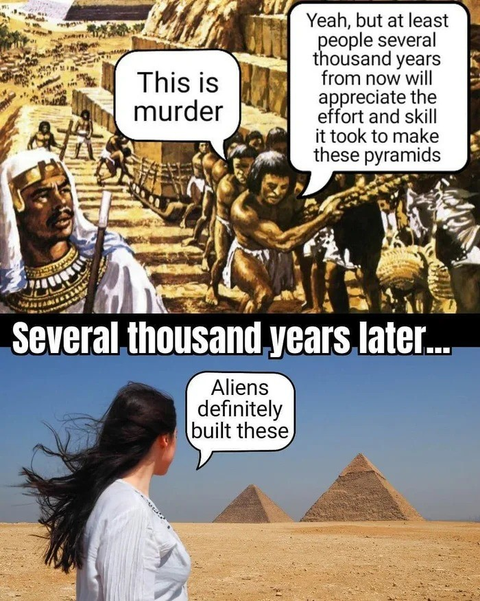 firmer irritate wanton Cattle. .. the pyramids were built by paid laborers