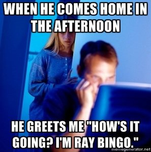 """FJ Addicted Husband. He be trolling. She hating.. NI] lall ill. says that this meme is called """"Redditor's Wife"""""""