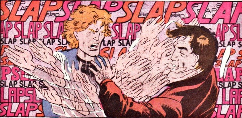 Flash slap baby. flash had an emotional breakdown in the 80's and got slap happy.