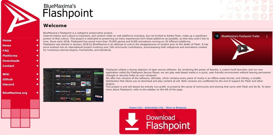 Flashpoint - Play flashgames in 2021 and beyond. join list: VidyaGames (385 subs)Mention Clicks: 25716Msgs Sent: 197585Mention History .. I'm going to wait and see what issues this has BEFORE I download anything...