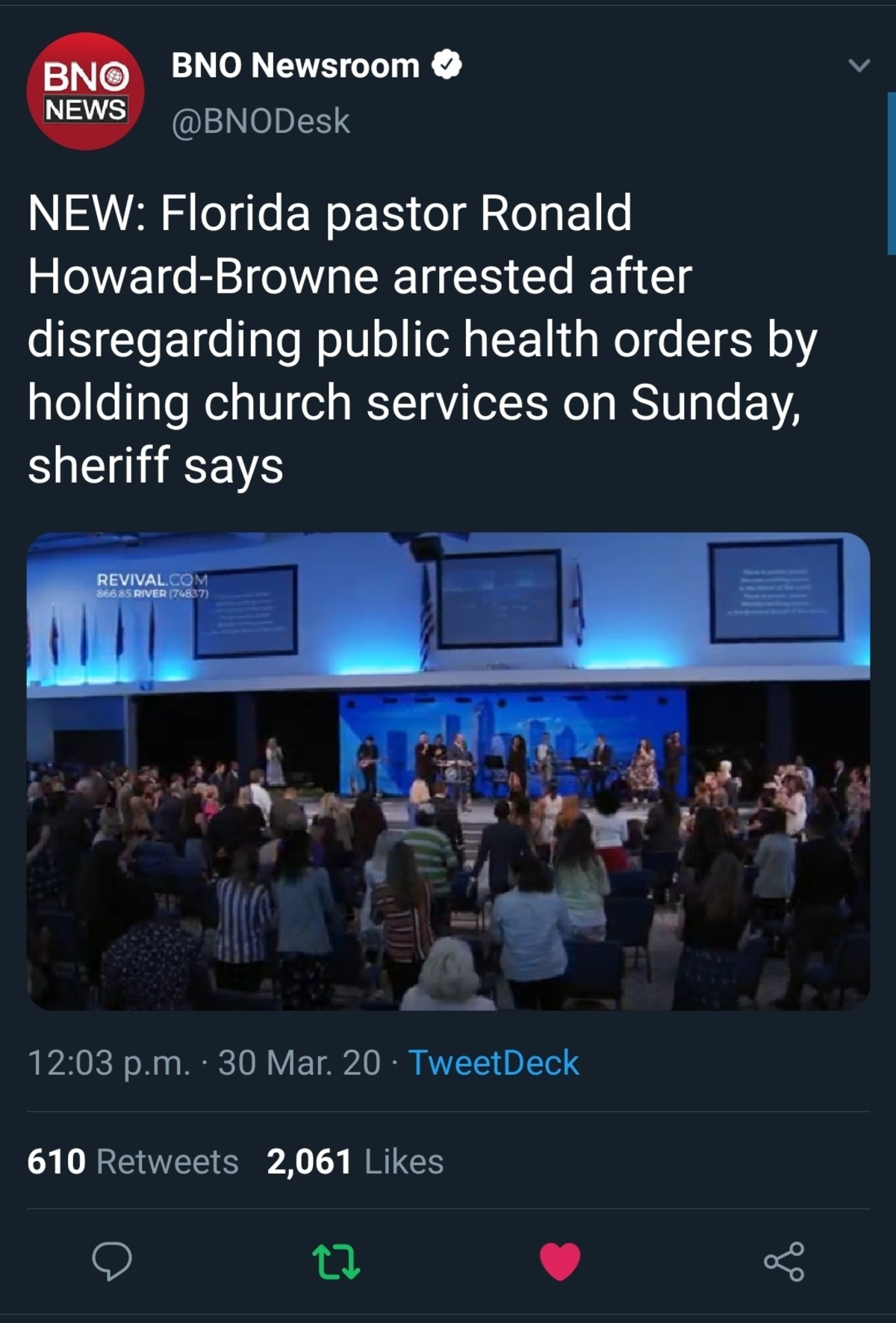 """Florida. .. This wouldn't have happened if they actually paid attention to the bible. Romans 13:1-2 """"Let everyone be subject to the governing authorities, for there is"""