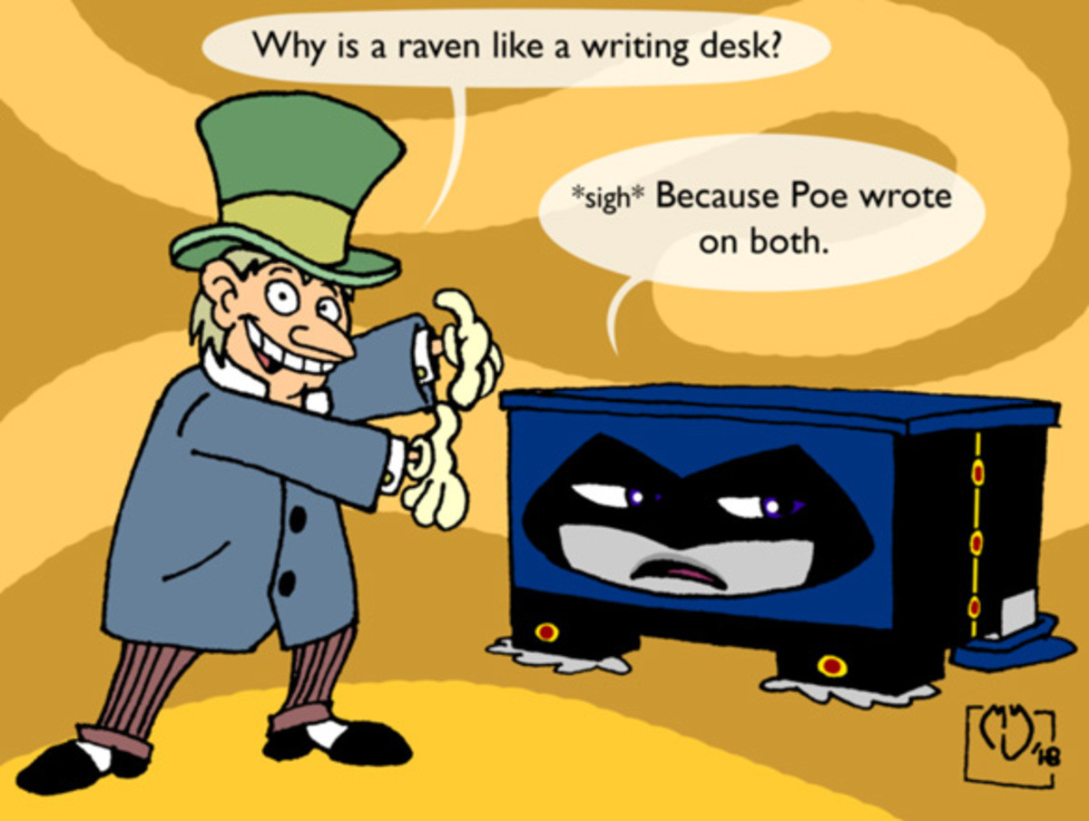 Fockiol Carovni Iguscotro. join list: Lewdraven (1615 subs)Mention History. Why is an raven like writing desk? sigh Because Poe wrote. why is this a thing?