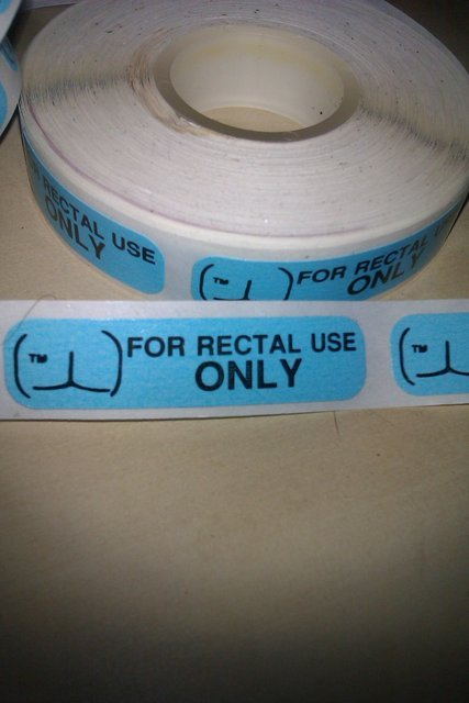 For Rectal Use Only. Remember to Thumb!.. my gay friend told me he uses this stuff to tape his wang